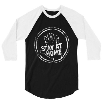 Stay At Home 2020 Shirt 3/4 Sleeve Shirt Designed By Faical