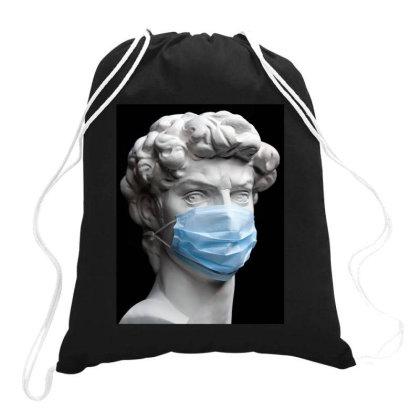 Medical Mask Sculpture Drawstring Bags Designed By Honeysuckle