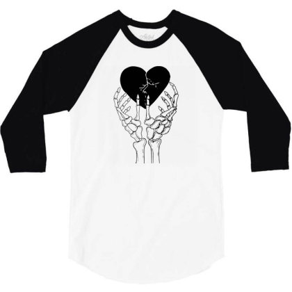 Broken Heart 3/4 Sleeve Shirt Designed By Tarwa