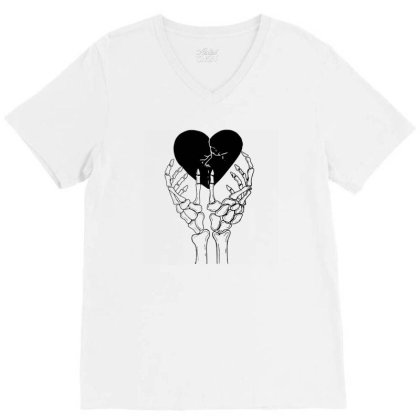 Broken Heart V-neck Tee Designed By Tarwa