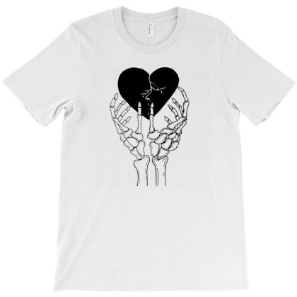 Broken Heart T-shirt Designed By Tarwa