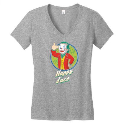 Comedian Boy Happy Face Women's V-neck T-shirt Designed By Tarwa