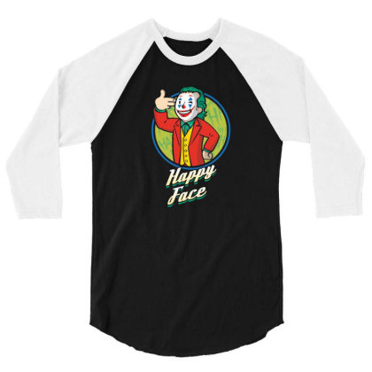 Comedian Boy Happy Face 3/4 Sleeve Shirt Designed By Tarwa