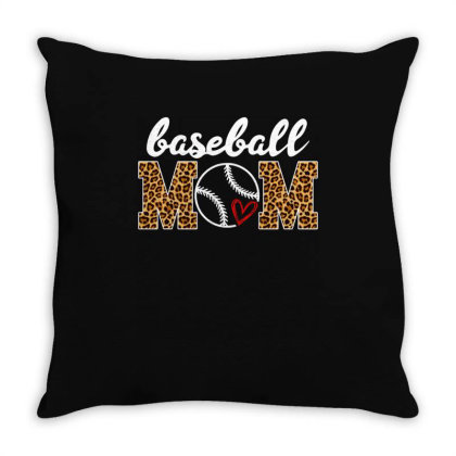Baseball Mom Throw Pillow Designed By Badaudesign