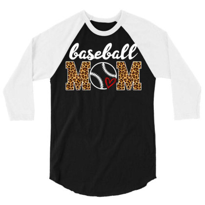 Baseball Mom 3/4 Sleeve Shirt Designed By Badaudesign
