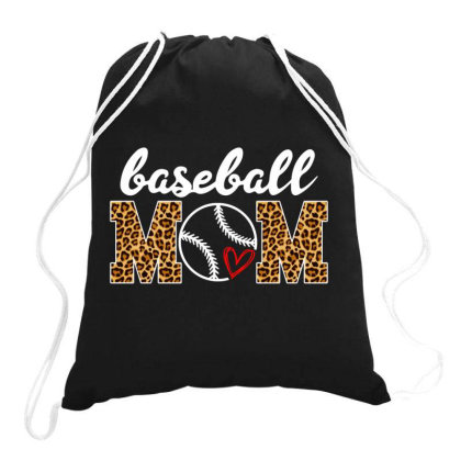 Baseball Mom Drawstring Bags Designed By Badaudesign