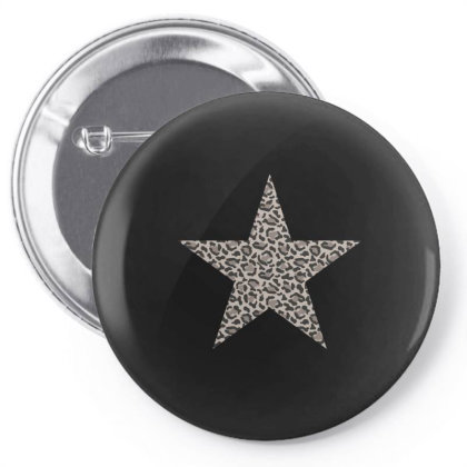 Leopard Printed Star Pin-back Button Designed By Badaudesign