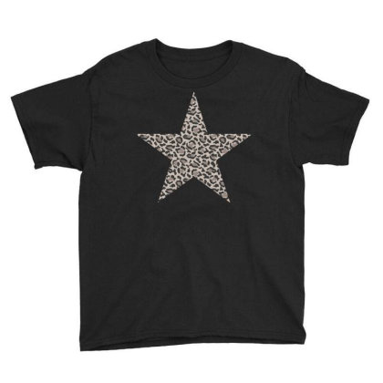 Leopard Printed Star Youth Tee Designed By Badaudesign