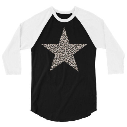 Leopard Printed Star 3/4 Sleeve Shirt Designed By Badaudesign