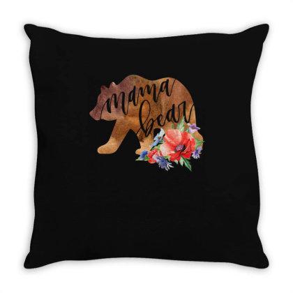 Mama Bear Throw Pillow Designed By Badaudesign