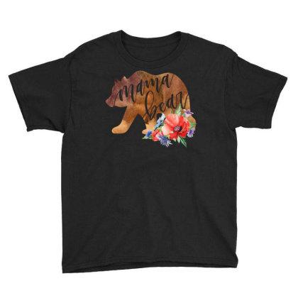 Mama Bear Youth Tee Designed By Badaudesign