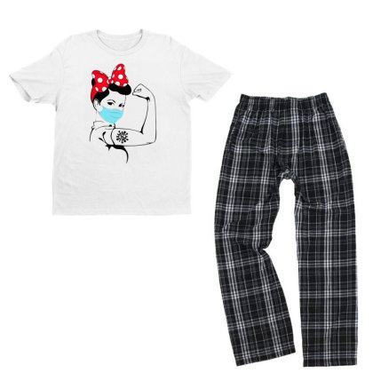 Stay Strong - Never Give Up Youth T-shirt Pajama Set Designed By Honeysuckle