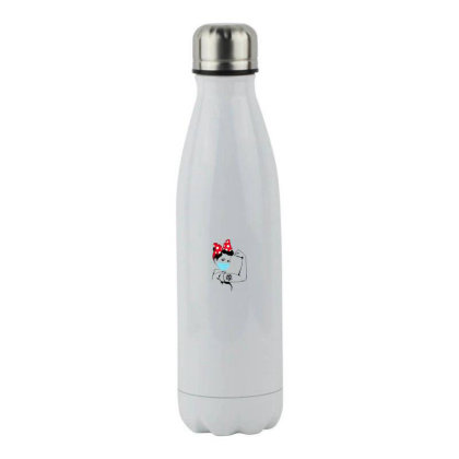 Stay Strong - Never Give Up Stainless Steel Water Bottle Designed By Honeysuckle