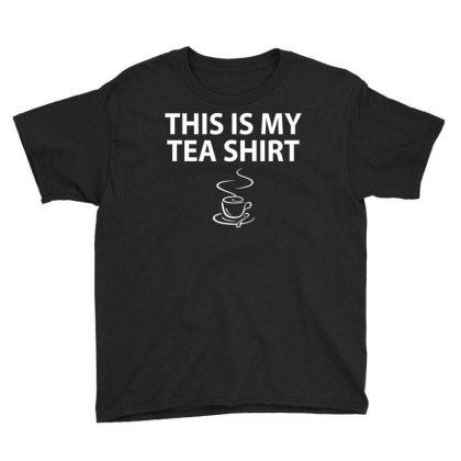 This Is My Tea Shirt Youth Tee Designed By Trending Design