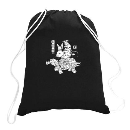 Kame, Usagi And Ratto Ninjas Drawstring Bags Designed By Anis4