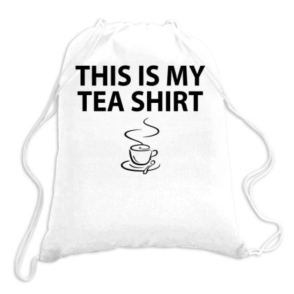 This Is My Tea Shirt | Black Drawstring Bags Designed By Trending Design