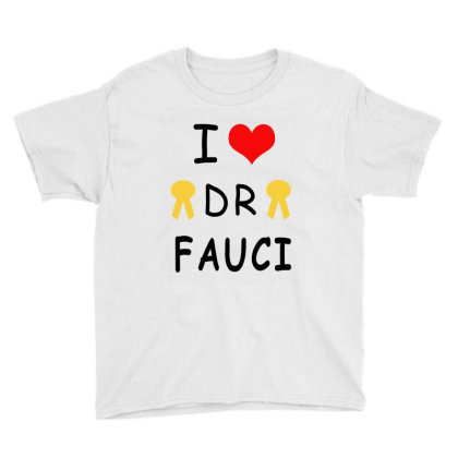 I Love Dr Fauci Youth Tee Designed By Elegance99