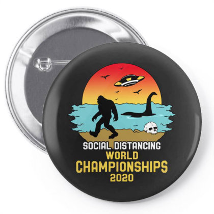 Social Distancing World Championships 2020 Pin-back Button Designed By Honeysuckle