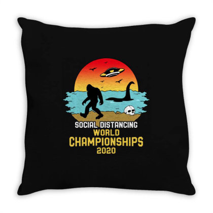 Social Distancing World Championships 2020 Throw Pillow Designed By Honeysuckle