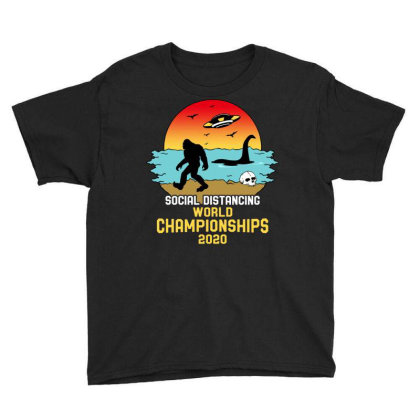 Social Distancing World Championships 2020 Youth Tee Designed By Honeysuckle