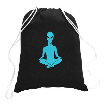 Alien Yoga Drawstring Bags Designed By Cypryanus