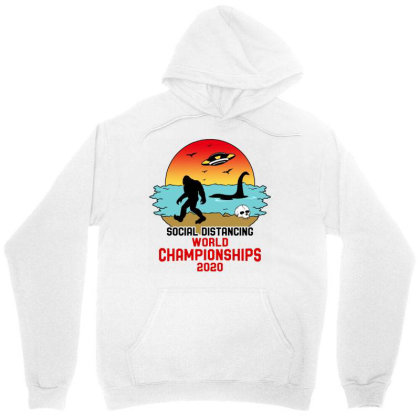 Social Distancing World Championships 2020 Unisex Hoodie Designed By Honeysuckle