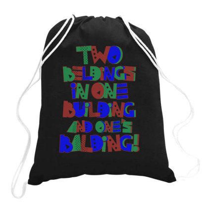 2 Beldings 1 Building Drawstring Bags Designed By Anis4