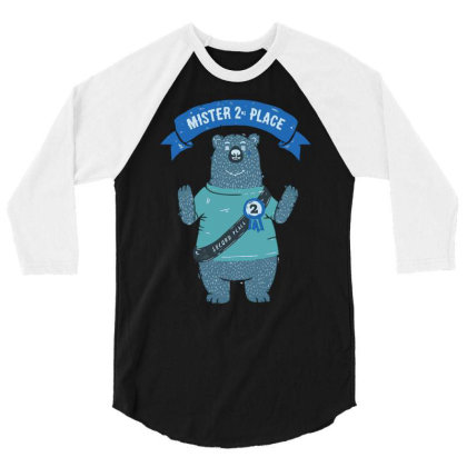 2nd Place Bear 3/4 Sleeve Shirt Designed By Anis4