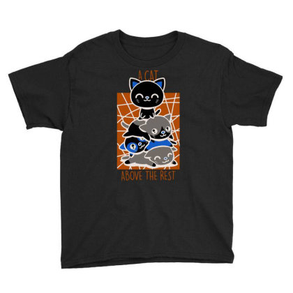 A Cat Above The Rest Youth Tee Designed By Anis4