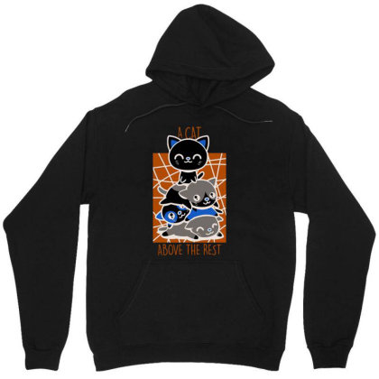 A Cat Above The Rest Unisex Hoodie Designed By Anis4