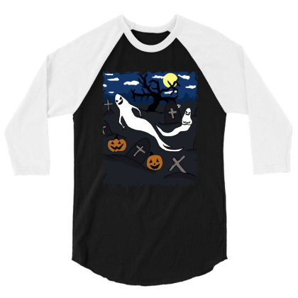 Halloween Day 3/4 Sleeve Shirt Designed By Cypryanus