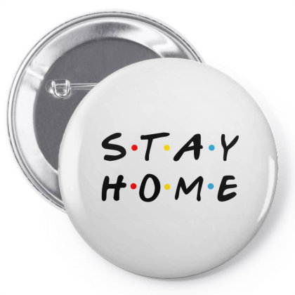 Stay Home Friends Tv Series Parody Pin-back Button Designed By Honeysuckle