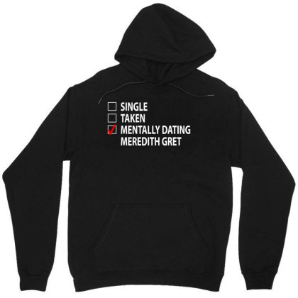 Mentally Dating Mrdth | White Unisex Hoodie Designed By Viral Style