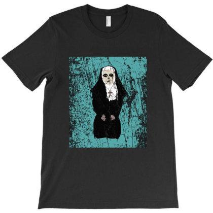 Horror Nun T-shirt Designed By Cypryanus