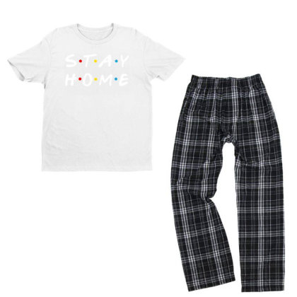 Stay Home Friends Tv Series Parody Youth T-shirt Pajama Set Designed By Honeysuckle