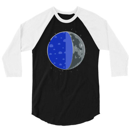 A Cheesy Moon 3/4 Sleeve Shirt Designed By Anis4