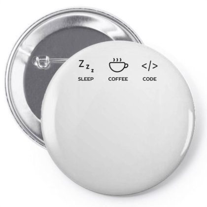 A Coder's Life Funny Tech Pin-back Button Designed By Anis4