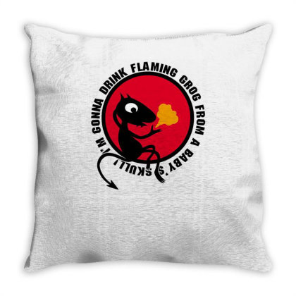 A Devil Not A Cat Throw Pillow Designed By Anis4