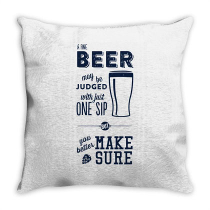 A Fine Beer Throw Pillow Designed By Anis4