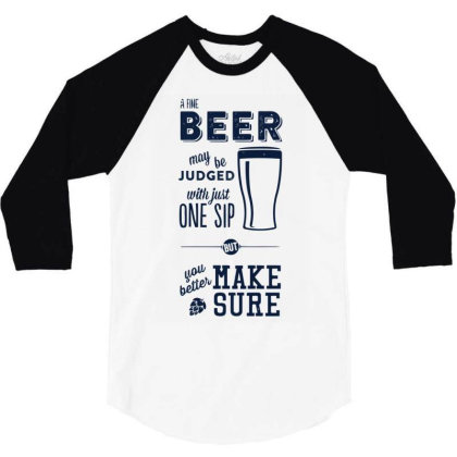 A Fine Beer 3/4 Sleeve Shirt Designed By Anis4