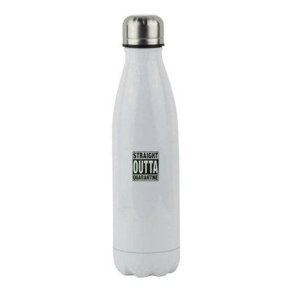 Straight Outta Quarantine Stainless Steel Water Bottle Designed By Honeysuckle