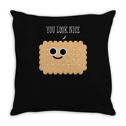 A Nice Biscuit Throw Pillow Designed By Anis4