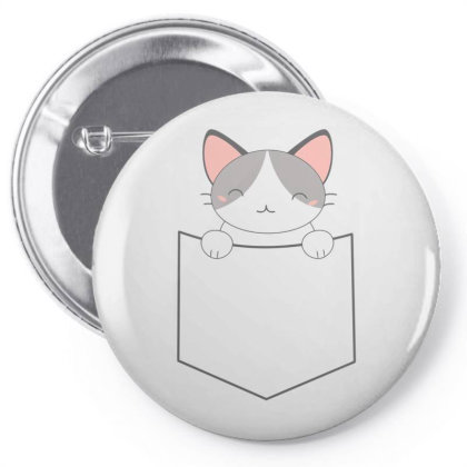 A Pocket Filled With A Cute Cat Pin-back Button Designed By Anis4