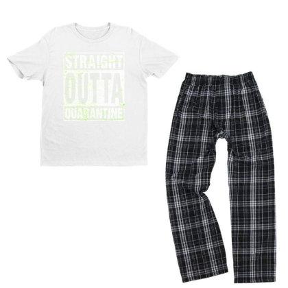 Straight Outta Quarantine Youth T-shirt Pajama Set Designed By Honeysuckle