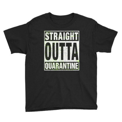 Straight Outta Quarantine Youth Tee Designed By Honeysuckle