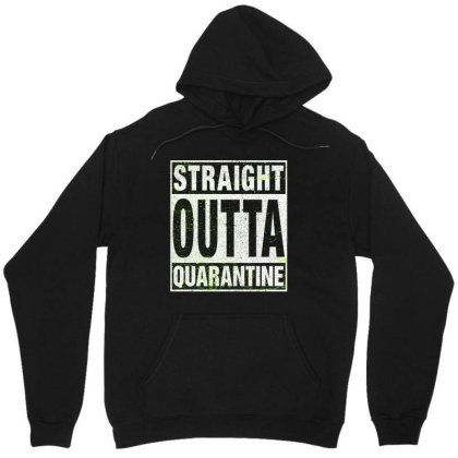 Straight Outta Quarantine Unisex Hoodie Designed By Honeysuckle