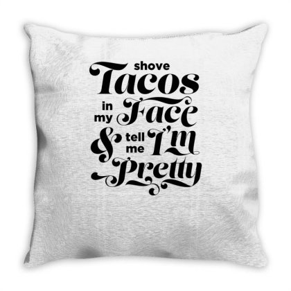 A Simple Taco Request Black Print Throw Pillow Designed By Anis4