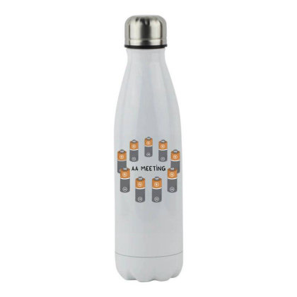 Aa Meeting Stainless Steel Water Bottle Designed By Anis4