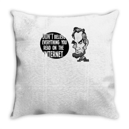 Abe's Internet Advice Throw Pillow Designed By Anis4