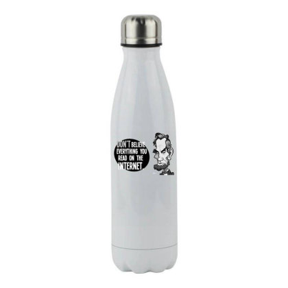 Abe's Internet Advice Stainless Steel Water Bottle Designed By Anis4